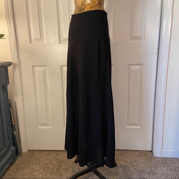 Vintage Banana Republic Maxi Black Flowery Skirt